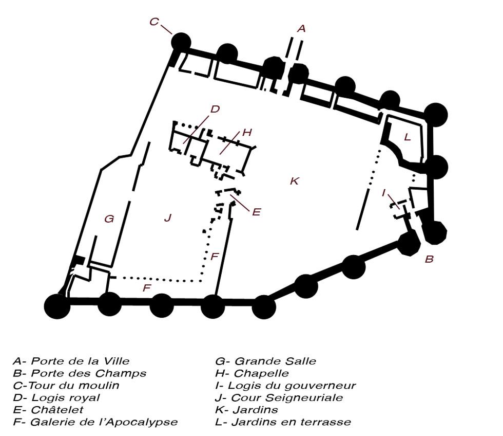 Plan du château d'Angers