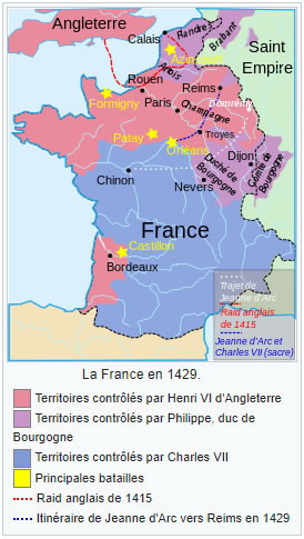 Carte de France - 1429