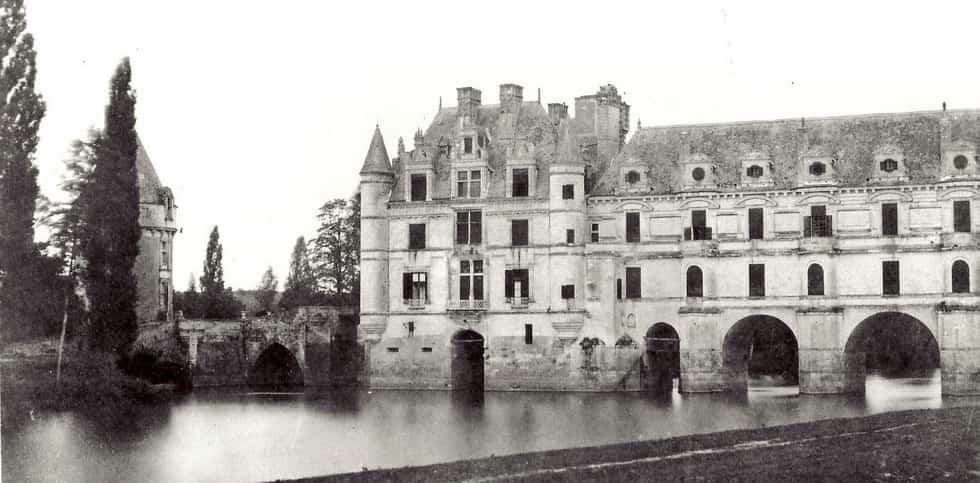 Photographie du château de Chenonceau en 1851 par Gustave Le Gray