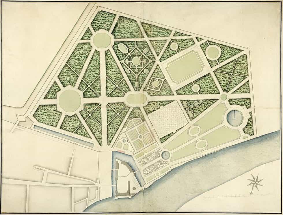 Carte du château Selles-sur-Cher par Carl Johan Cronstedt (1709–1779), découverte en 2016.